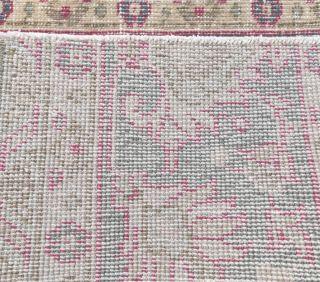 2x6 Vintage Handwoven Floral Patchwork Runner - Thumbnail