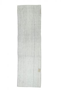 3x10 Vintage Kilim Solid Runner - Thumbnail