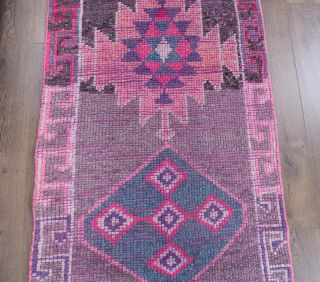 Vintage Hand-Knotted Runner Rug - Thumbnail