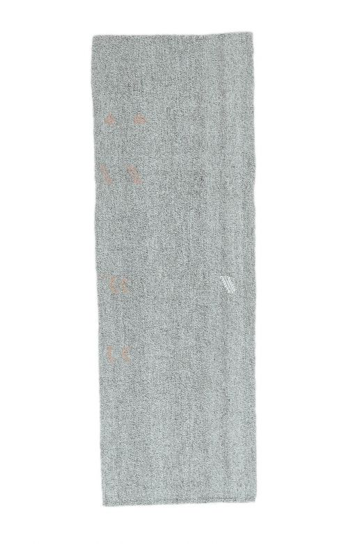 3x11 Vintage Kilim Rug Gray Runner