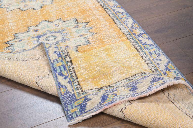 3x9 Wool Vintage Runner Rug