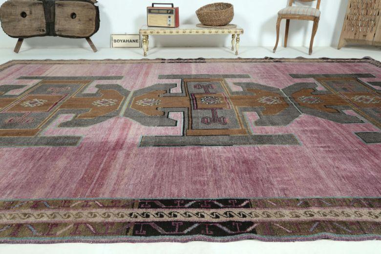 Vintage Purple Large Area Rug