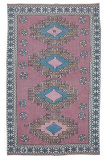 Akvota - Folk Vintage Turkish Rug - Thumbnail