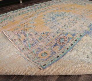 Erin - Faded Orange Vintage Area Rug - Thumbnail