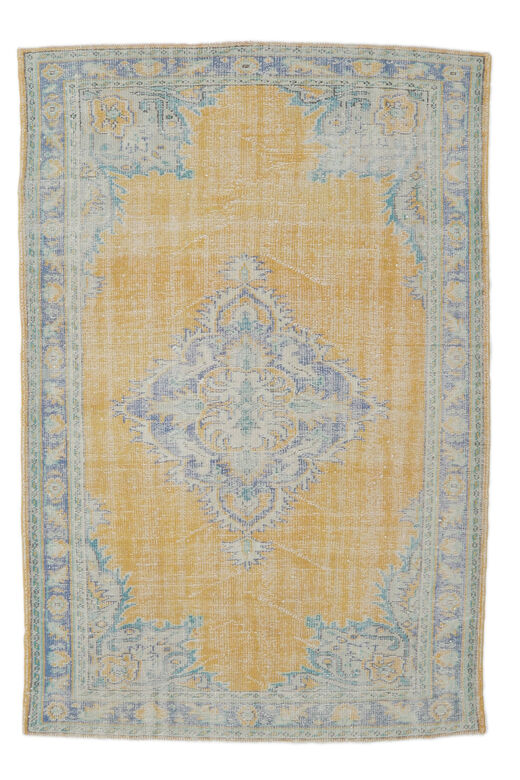 Erke - Orange Yellow Vintage Area Rug
