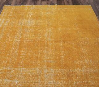 Eudora - Orange Overdyed Vintage Rug - Thumbnail