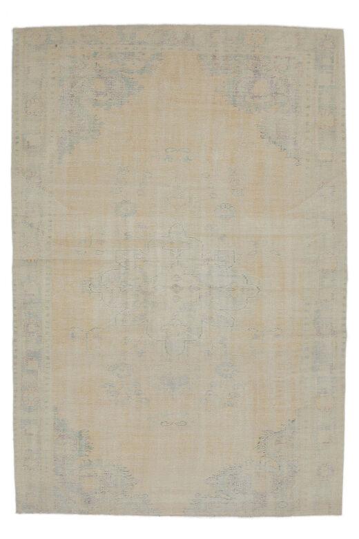 Ferhan - Faded Beige Blush Boho Vintage Rug
