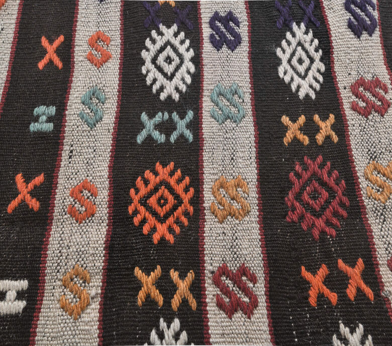 Gumush - Traditional Ethnic Flatweave Rug