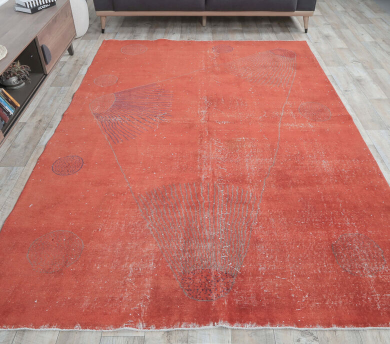 Hailey - Contemporary Vintage Red Rug