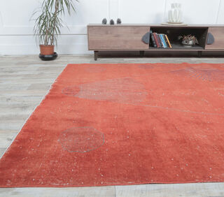 Hailey - Contemporary Vintage Red Rug - Thumbnail
