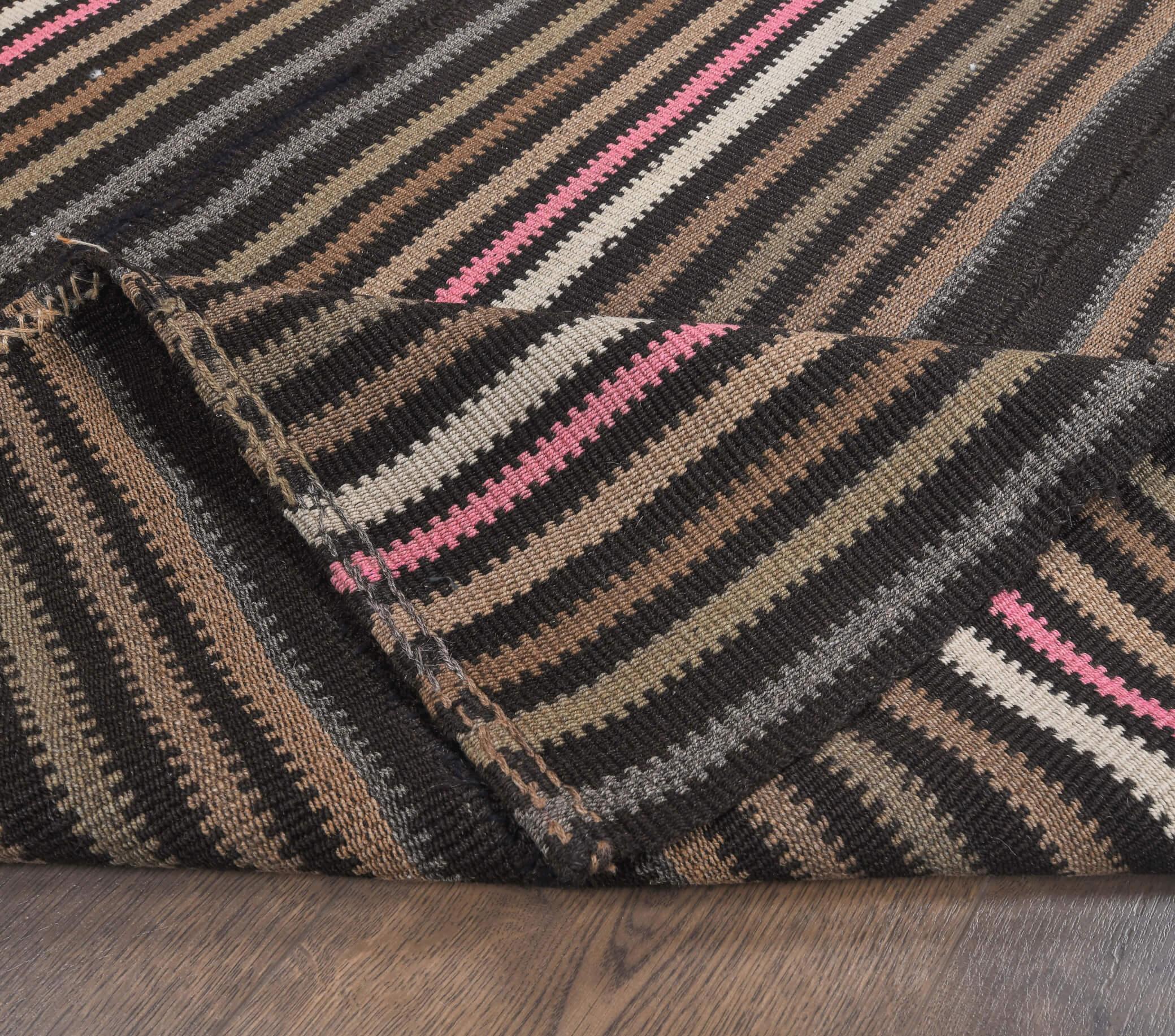 Hayley - Black Vintage Kilim Rug - Thumbnail