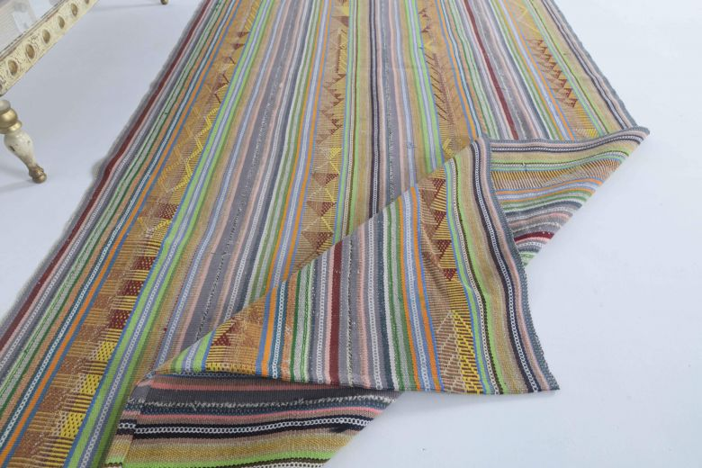 Vintage Multi-Colored Area Rug